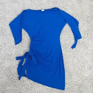 Cach'e Royal Blue Angle Open Arms Dress